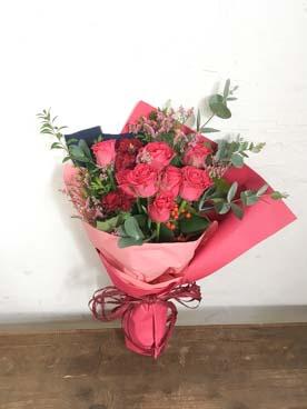 バラ花束ダークピンクMスタンダード