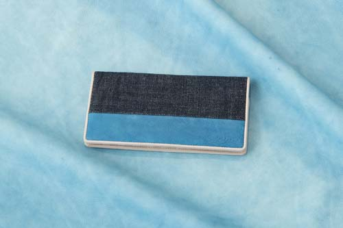 【Bluestone】Sデニム x スクモレザー 長財布