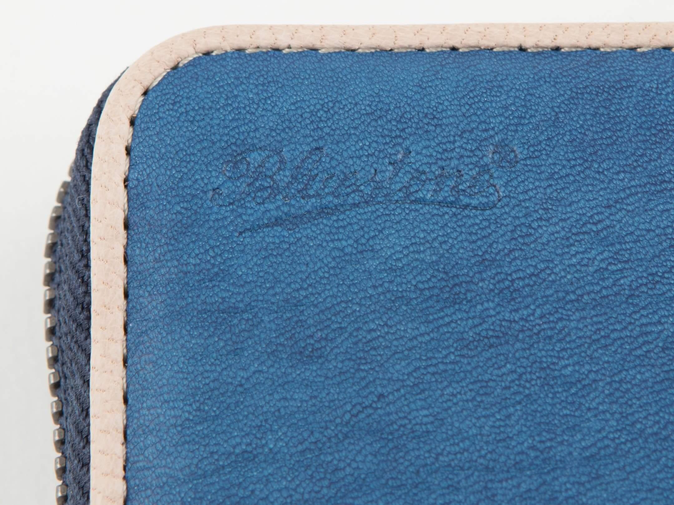 【Bluestone】Sデニム x スクモレザー ラウンドジップ長財布