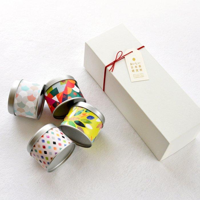 日本ノ茶葉「彩り茶缶4種セット」 (TG-03)