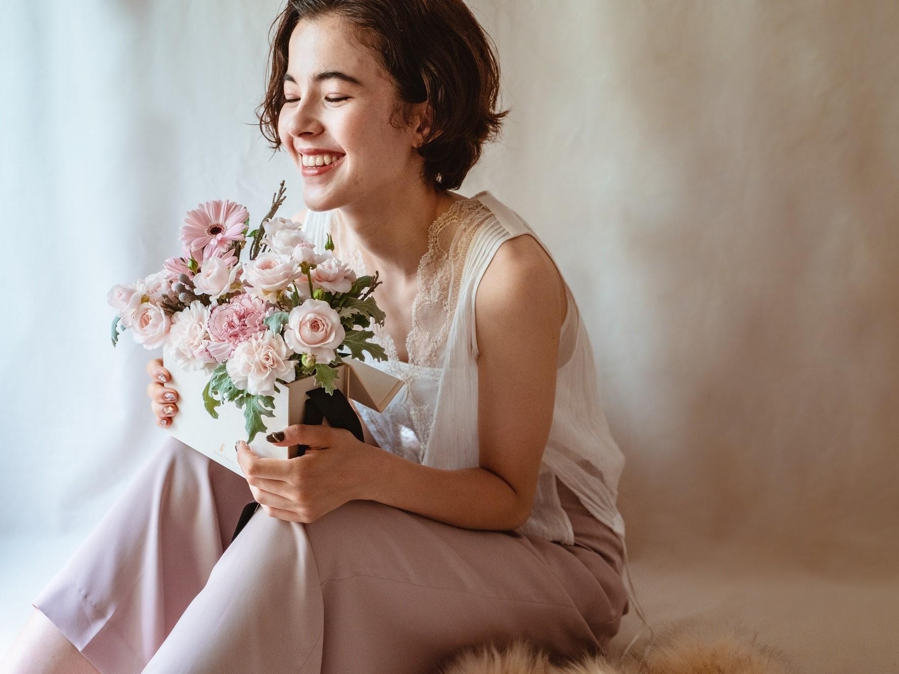 Flower BAG Pink/フラワーバッグアレンジ ピンク