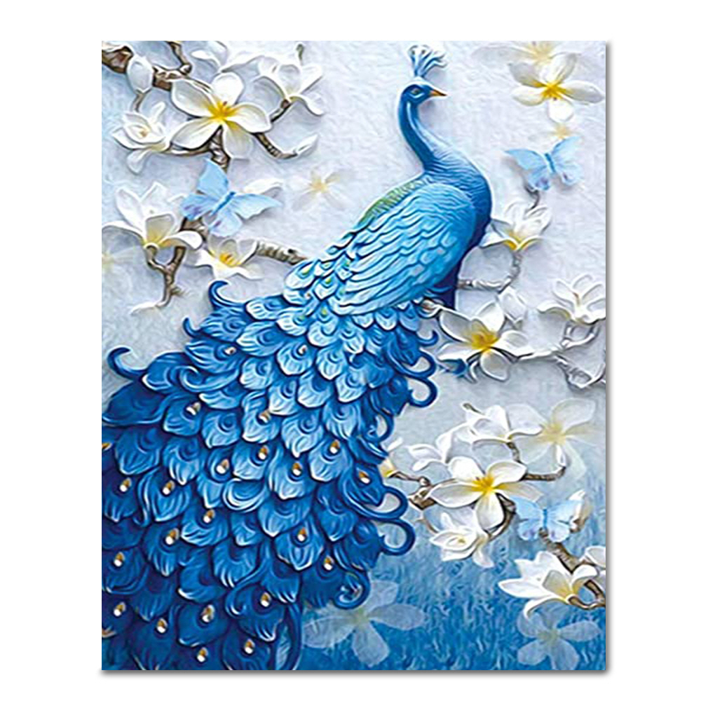 DIY 페인팅 꽃속블루공작 PEE25 (40x50)