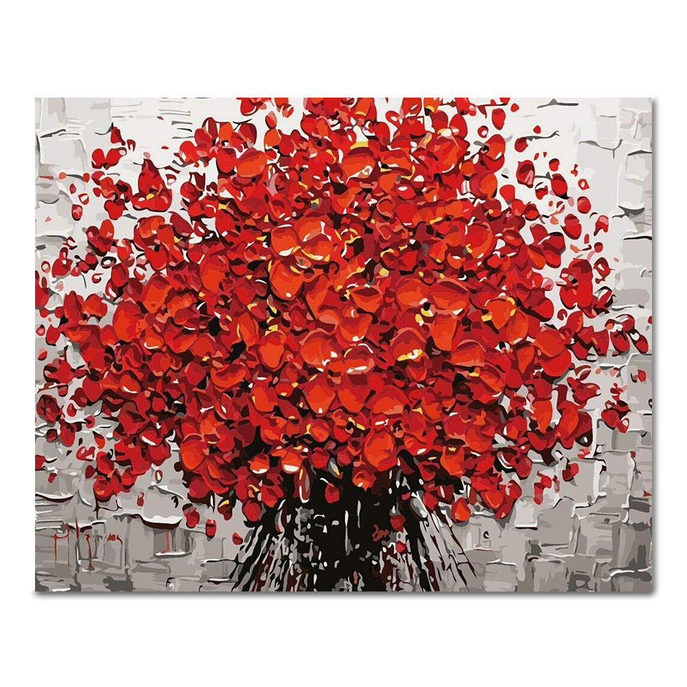 DIY 페인팅 빨간 꽃다발 PG03 (50x40)