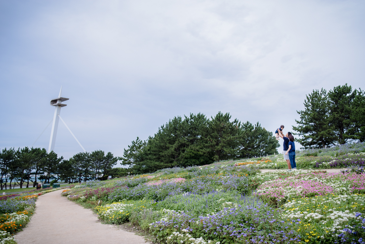 葛西臨海公園での家族写真