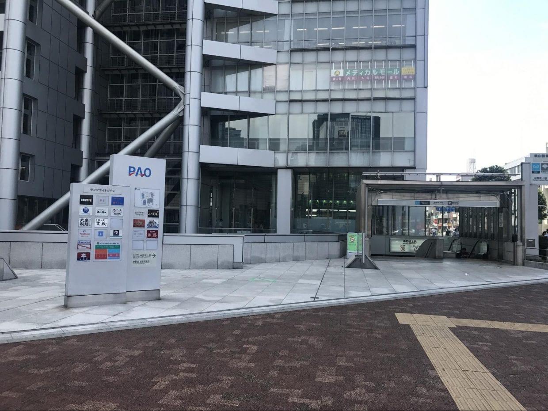 スタートの中野坂上駅 ©︎Matsumura Seiya