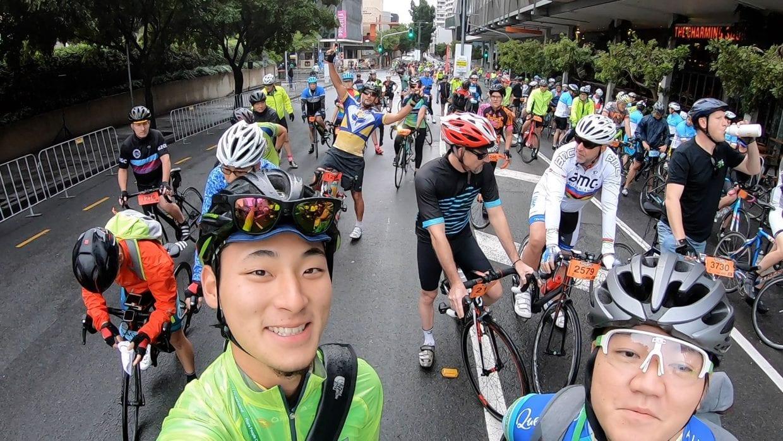 ▲(左)自転車YouTuber サイクリングマン (右)ゆるぽたの伝道師マツムラ(筆者)