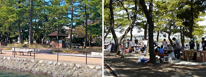 野島公園バーベキュー場・キャンプ場(横浜市金沢)