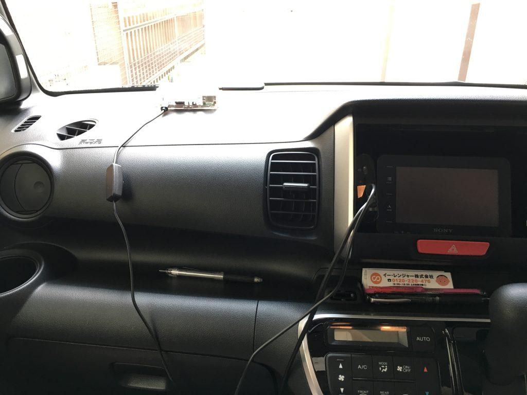 ラズベリーパイ3 SORACOM Ambient でGPSロガーを作る:車装着2 イー・レンジャー株式会社