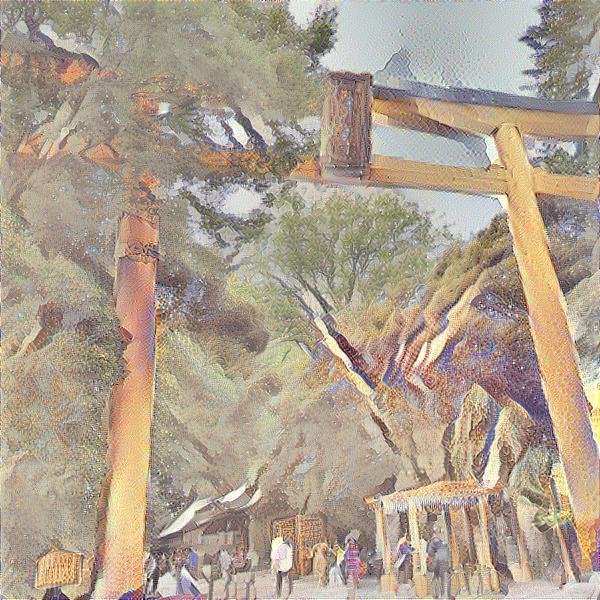 川越氷川神社 名画風 イー・レンジャー株式会社
