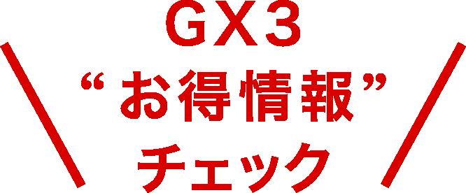 GX3 お買い得情報チェック