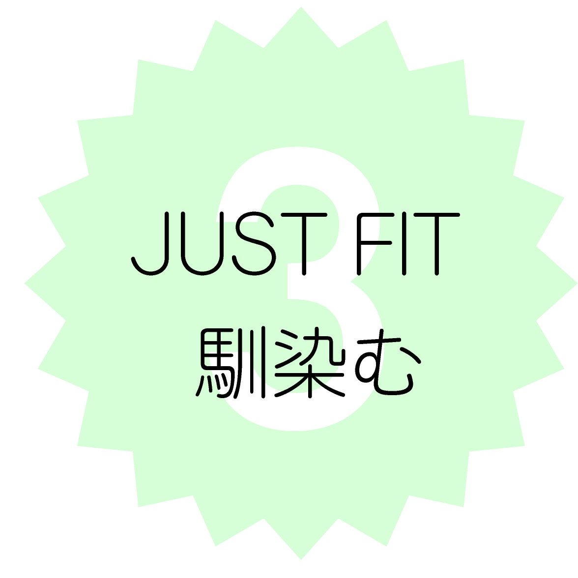 3. JUST FIT 馴染む