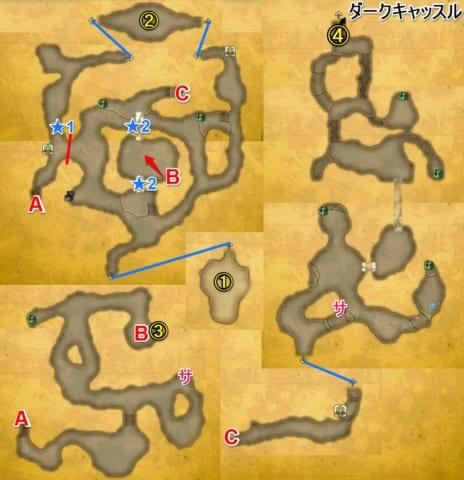 暗闇の洞窟マップ