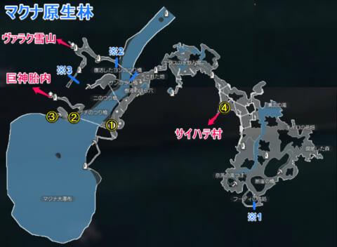 マクナ原生林マップ