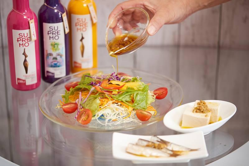 fresco オリーブオイルとサラダ