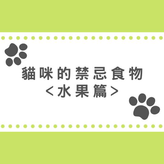 貓咪的禁忌食物-水果篇|10種貓咪絕對不能吃的水果清單! 的封面圖片