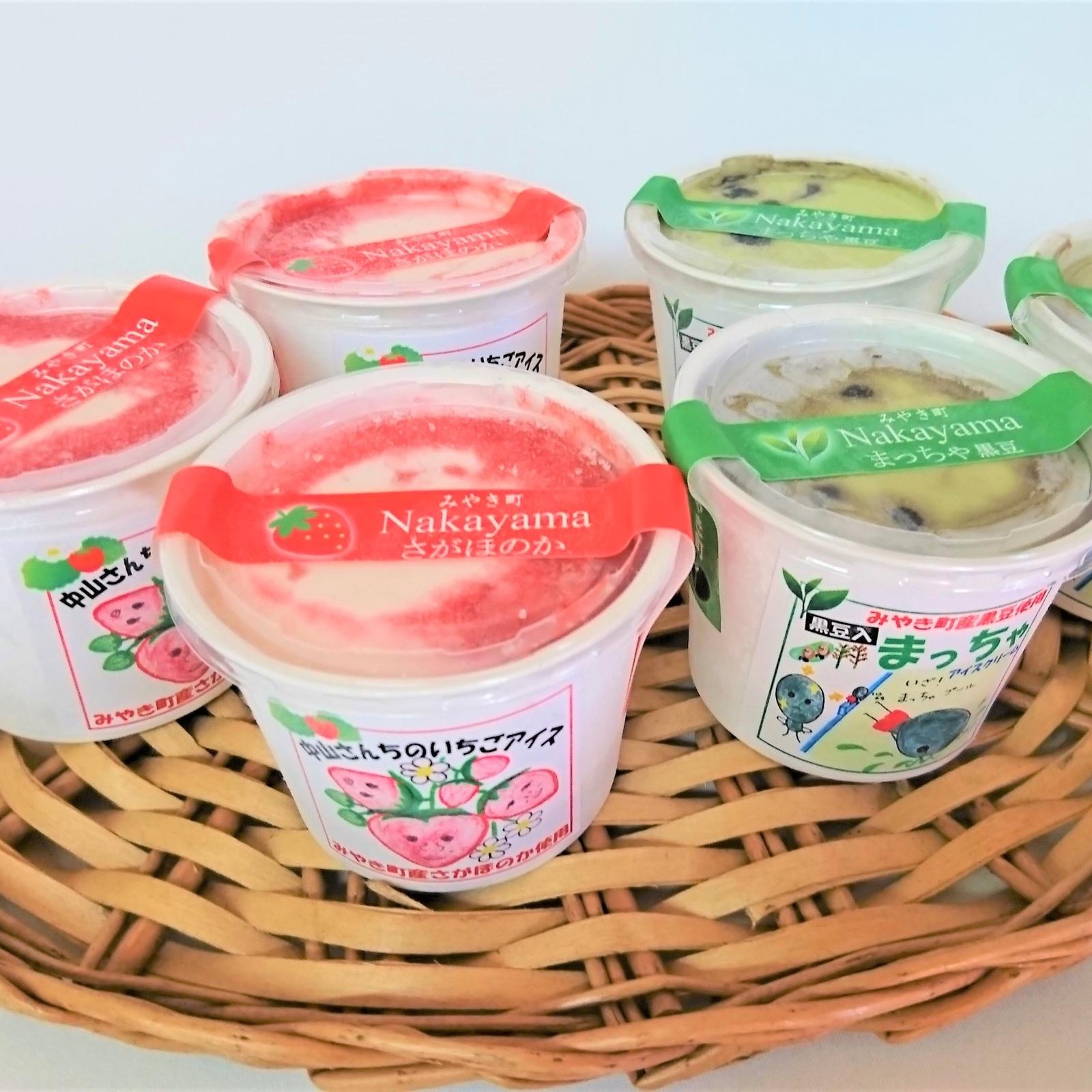 【お中元対応】中山さんちの自然そのまんまアイス 6個入り 120ml×6個 いちご3個、黒豆抹茶3個 加工品/セット・詰め合わせ通販
