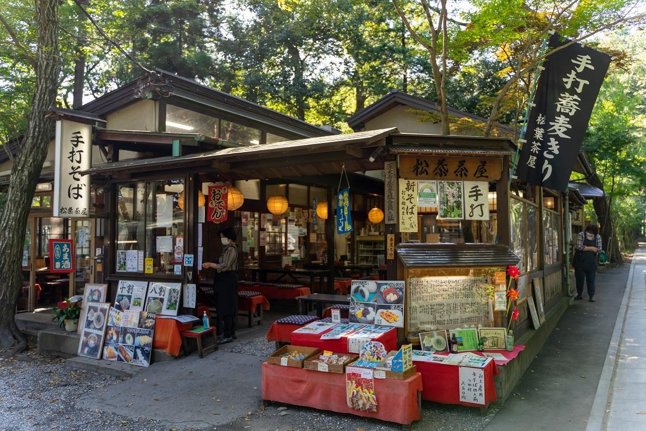 深大寺の松葉茶屋の店構え