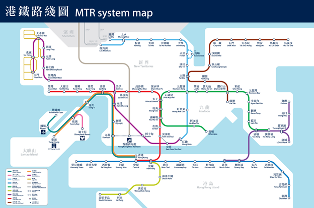 New MTR Lines in Hong Kong