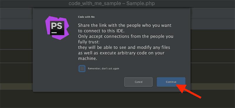 ペアプロ招待リンクの作成前の確認画面