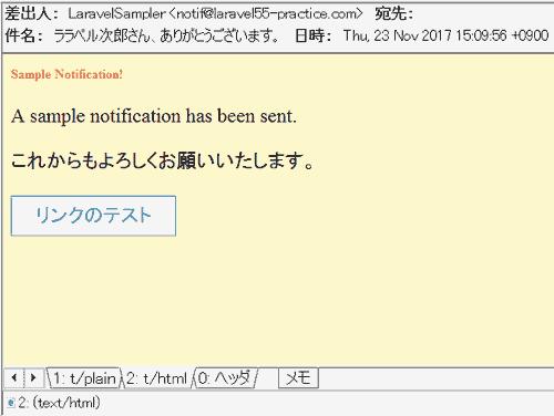 HTMLメールの受信