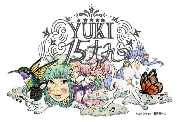 YUKI 15周年ロゴ
