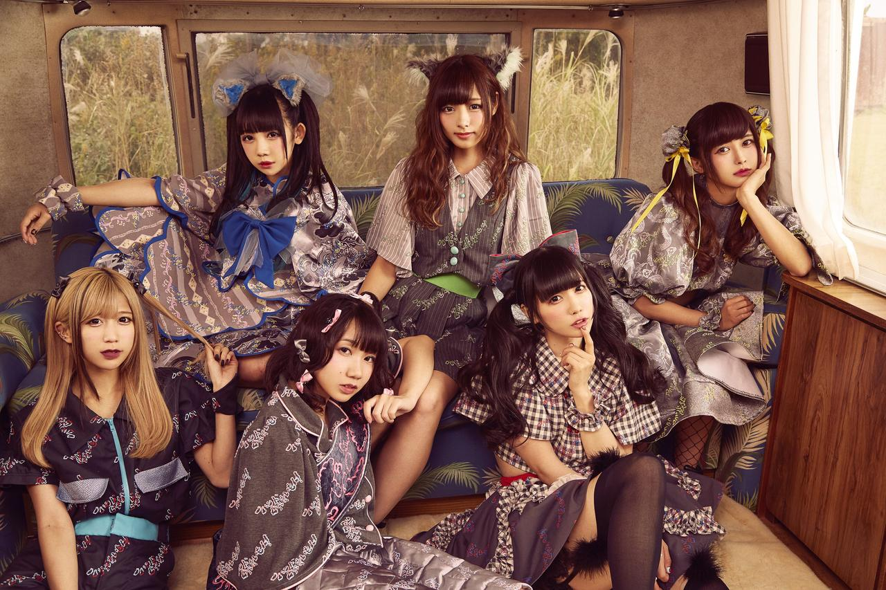 L→R 七星ぐみ、大桃子サンライズ、鈴姫みさこ、望月みゆ、恋汐りんご、甘夏ゆず