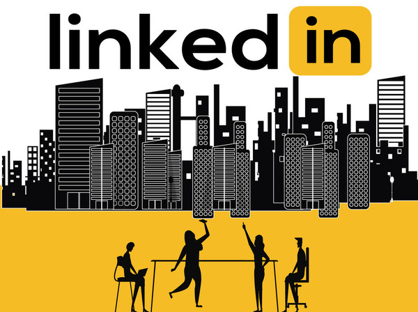 Creative Word concept Linkedin and People activity
