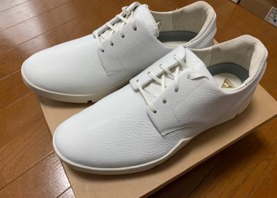 工業製品としての凛とした雰囲気を備えた、真っ白なスニーカーを発見。