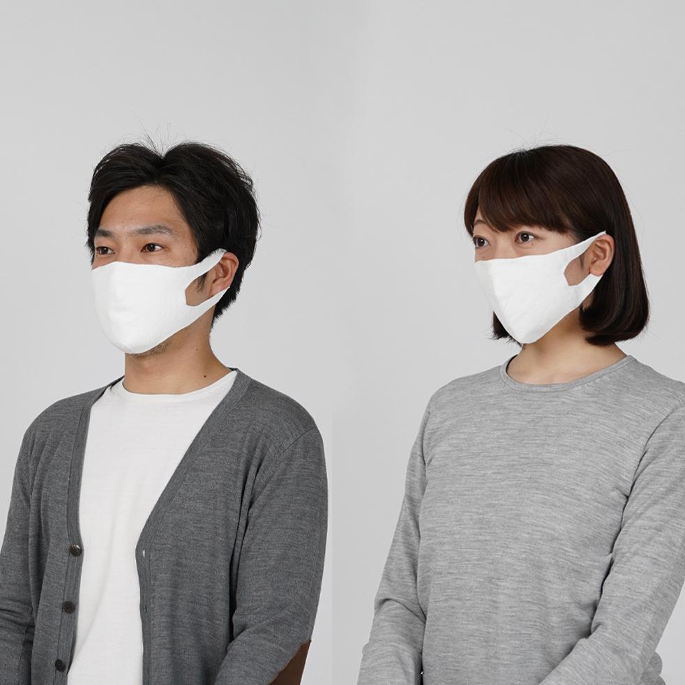山形のニットメーカーがつくる、和紙由来の糸を用いた無縫製・抗菌の立体ニットマスク