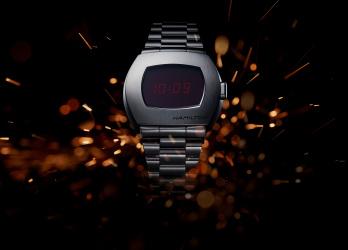 世界初のLED式デジタル腕時計が復刻! 「ハミルトン PSR」のデザインを語ろう。