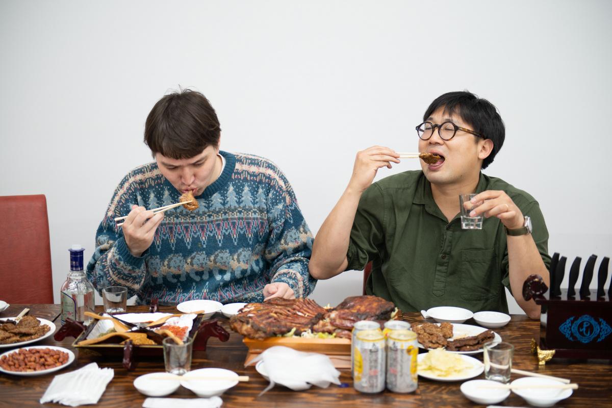 ラボ併設の「吉味東京」で、内モンゴル仕込みの羊肉を堪能。
