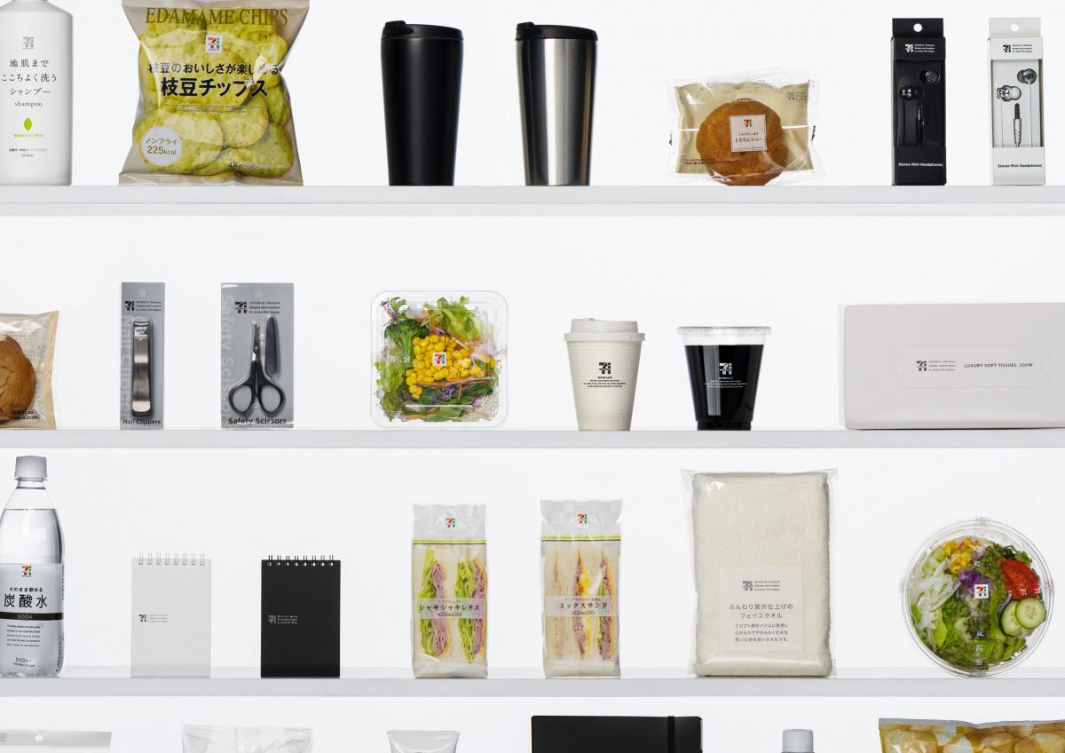 セブン-イレブンでは、日常に溶け込むデザインで消費者の心をつかんだ。