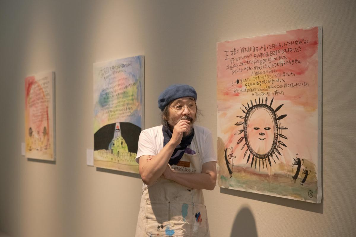 コロナ禍に負けず、茨城県筑西市で個展を開催した安齋 肇さん。