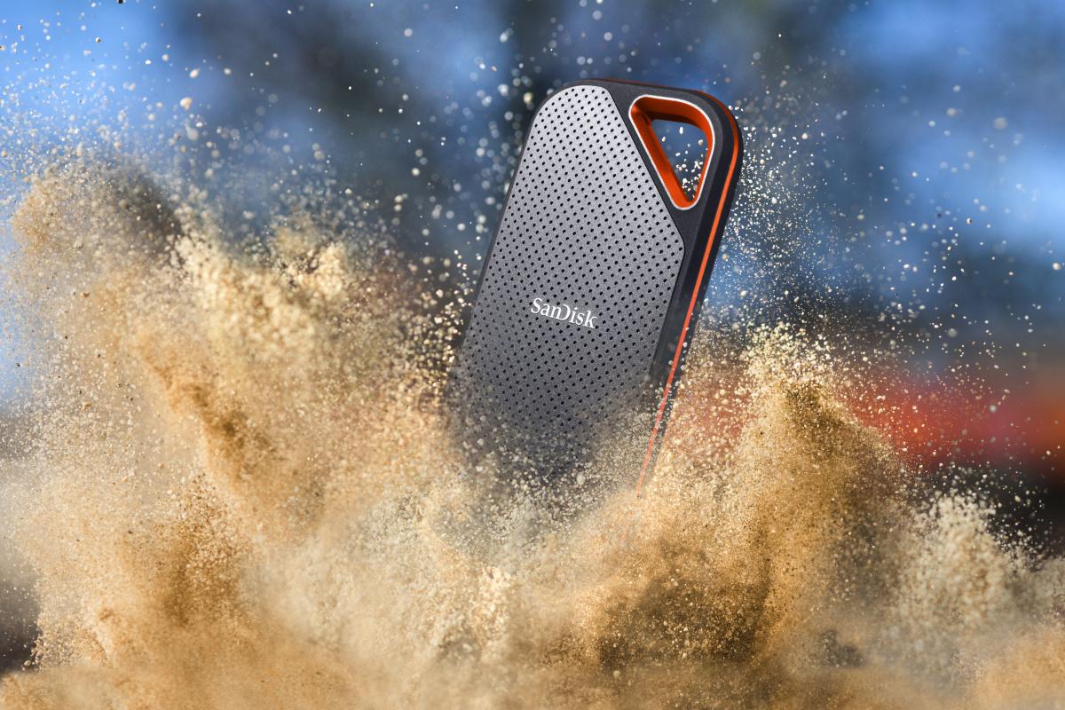 大容量かつ高速、安全性にも優れた、SanDisk エクストリーム プロ ポータブルSSD