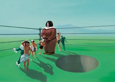 弘前生まれの人物を題材に土地のエネルギーを解き放つ、『小沢剛展 オールリターン』