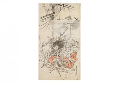 未完の下絵でこそわかる、 河鍋暁斎の圧倒的筆力と反骨精神。