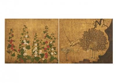 日本の近世町人文化の粋「琳派」と、西欧近代の幕開け「印象派」を対比する。