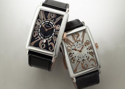 角形腕時計の傑作が20周年! フランク ミュラー「ロングアイランド」にビザン数字をレリーフにした新作が登場。