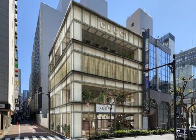銀座で2店目の旗艦店「グッチ並木」が4月29日オープン! 限定コレクションや日本初進出のレストランに注目。