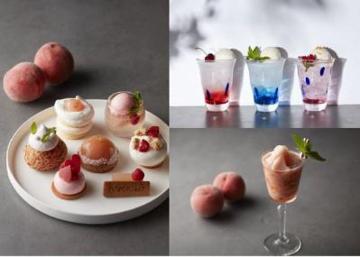 「桃づくし」の贅沢なケーキセットが夏限定で登場。ムースにタルト、ゼリーまで