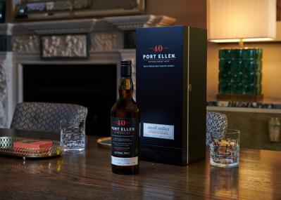 40年の熟成期間を経た幻のウイスキー「ポートエレン40年」が、1380本限定で販売