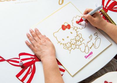 ハローキティのデザイナー・山口裕子さんの描き下ろした色紙を、抽選で1名様にプレゼント!