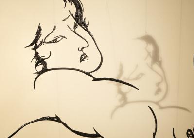 書の可能性を広げる現代アーティスト、紫舟が妖しく美しい春画に施した仕掛け。