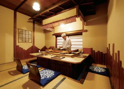 築地のお座敷天ぷら「おかめ」で、江戸前の空間にどっぷり浸る。