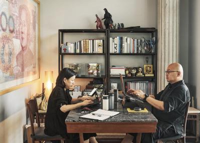 シンガポールのクリエイター夫婦のテレワークは、「空間をシェアしながら異なる時間・スタイルで働く」