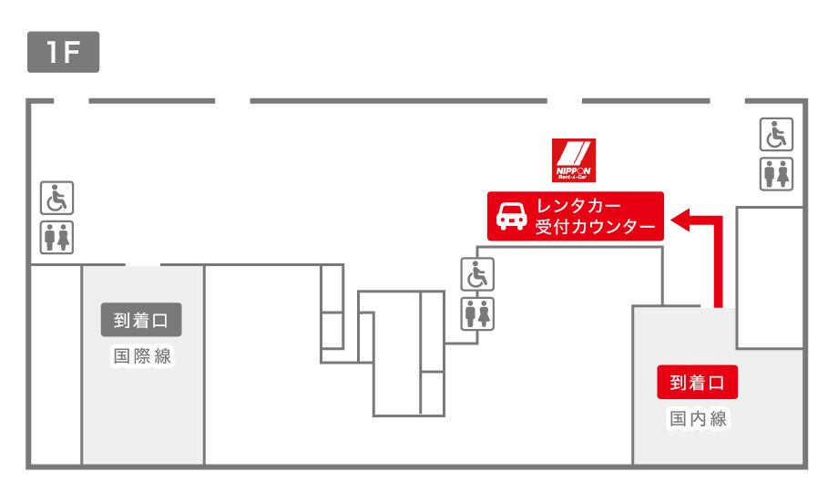 新潟空港ニッポンレンタカー受付カウンター