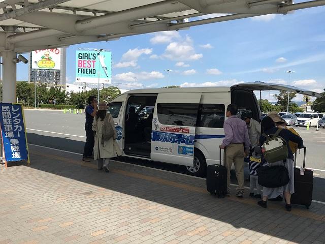 福岡空港レンタカー送迎バス乗り場