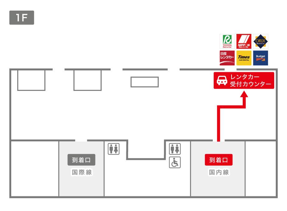 仙台空港レンタカー受付カウンター