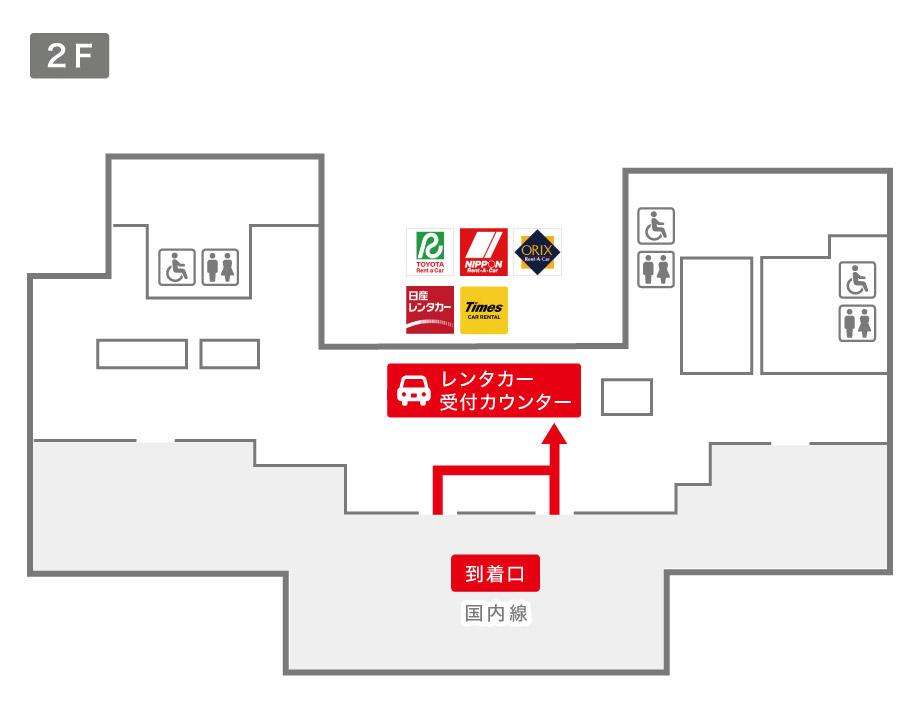 伊丹空港レンタカー受付カウンター案内図