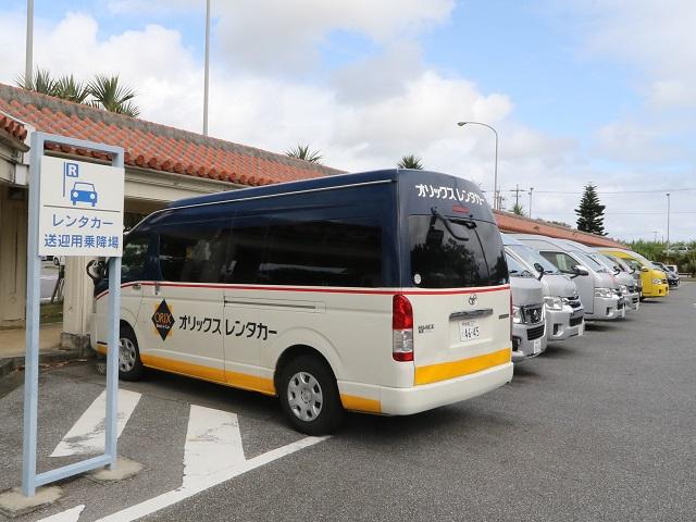 宮古空港レンタカー送迎バス乗り場